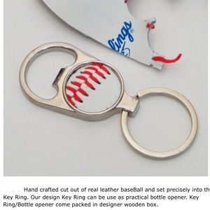 JO Collection Baseball Key Ring / Bottle Opener